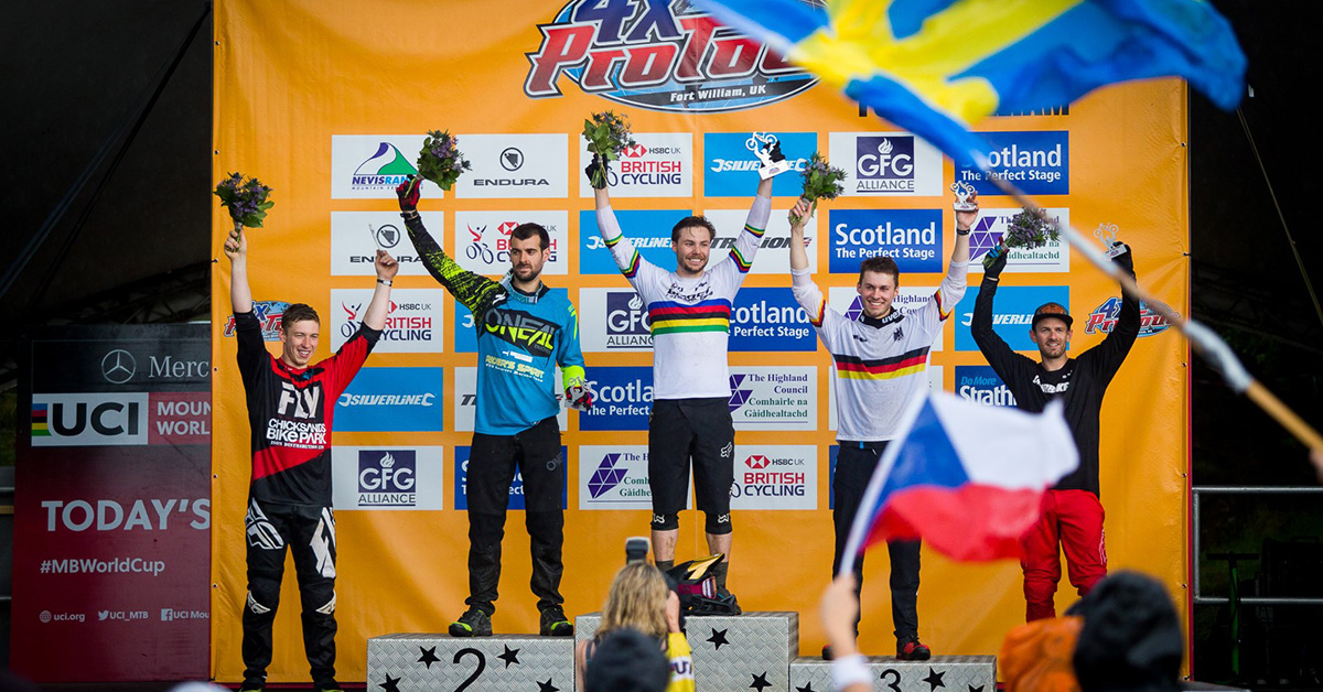 Felix Beckeman på podium i Fort William